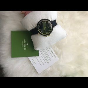 NWB Kate Spade Black and Gold Watch